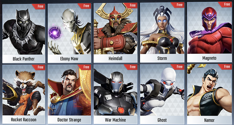 MARVEL Super War: March 19th 2020 Update Free Hero