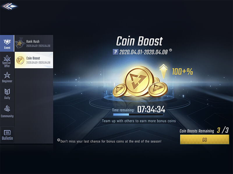 COIN BOOST EVENT