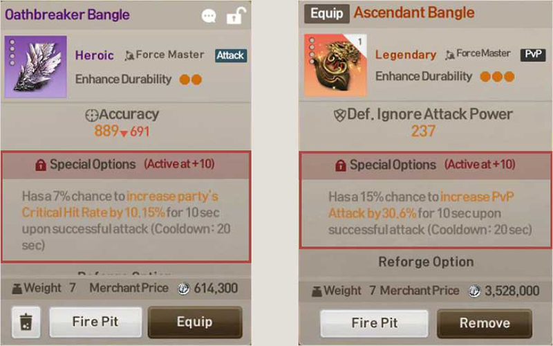 Hunt-type equipment is advantageous for hunting in fields. Check equipment attributes by looking at the item descriptions.