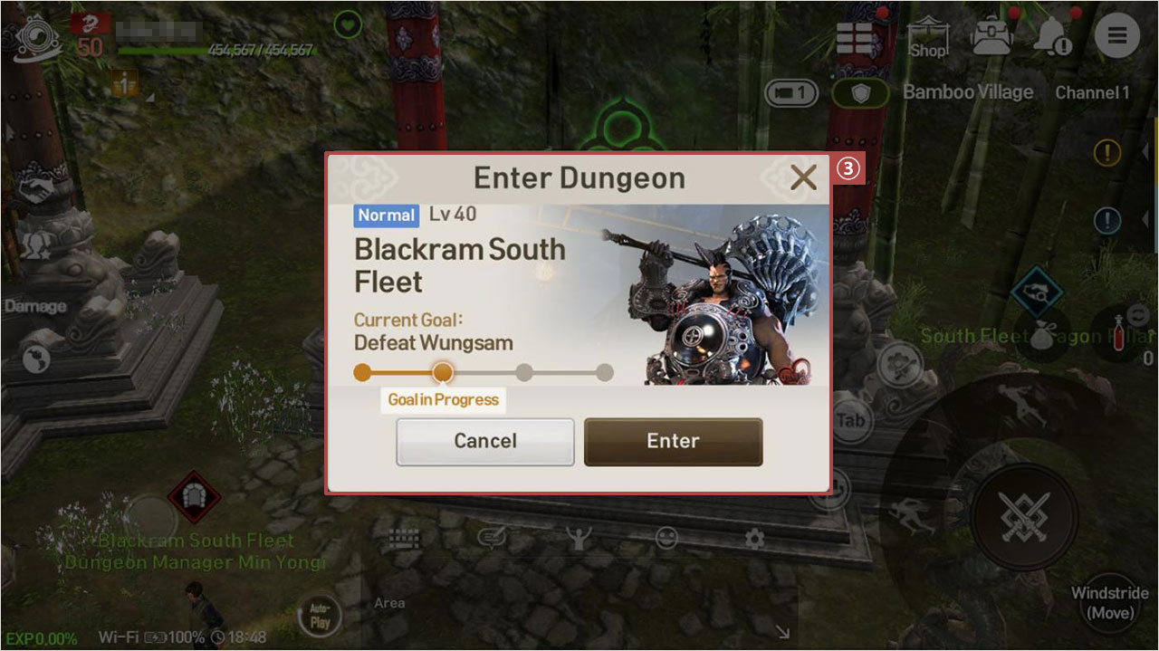 How to Enter Dungeons Step 1