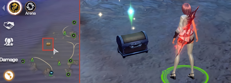 There are no notifications when a Supply Chest appears, but its location will be displayed on the Mini-Map and World Map if it's near your character