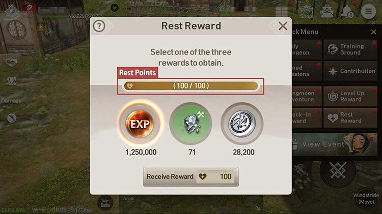 Rest Rewards