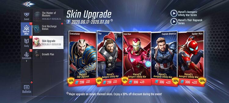 Skin Upgrade Event