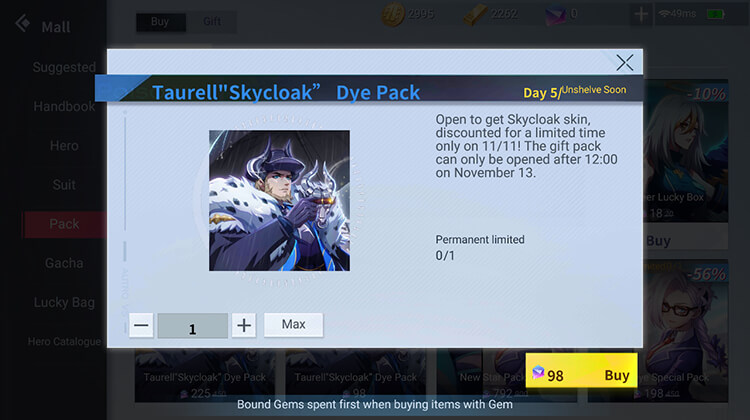 Taurell's Special Skin Available in the Shop