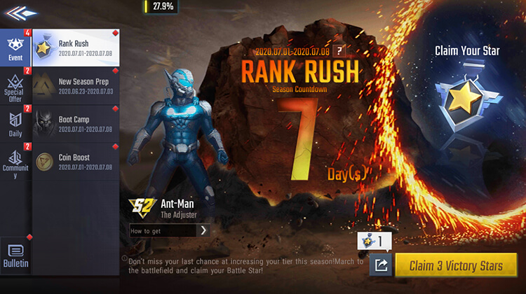 Rank Rush Event