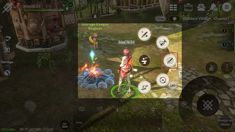 They can be used through the Reforge menu that pops up by tapping the Fire Pit.