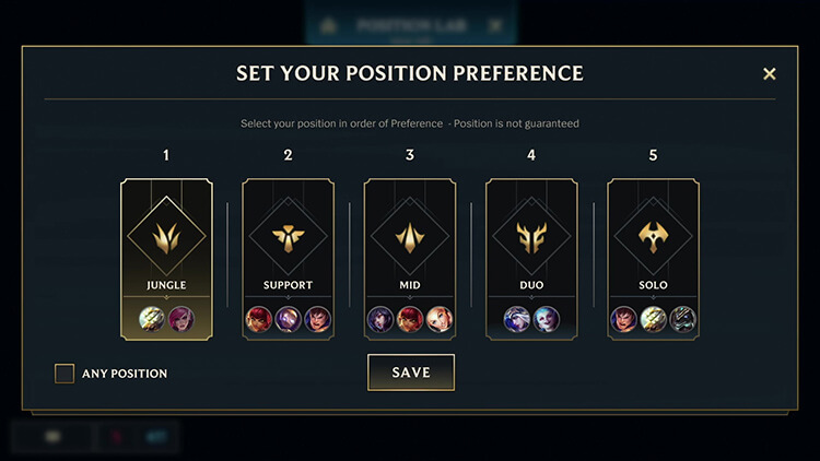 Position Preference