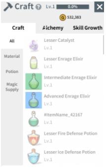 Alchemy Crafting
