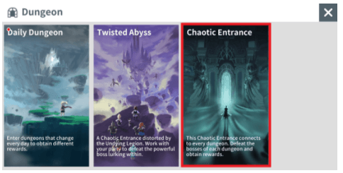 Chaotic Entrance