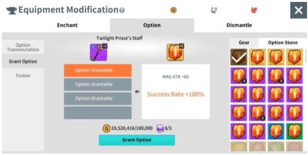 Granting Options