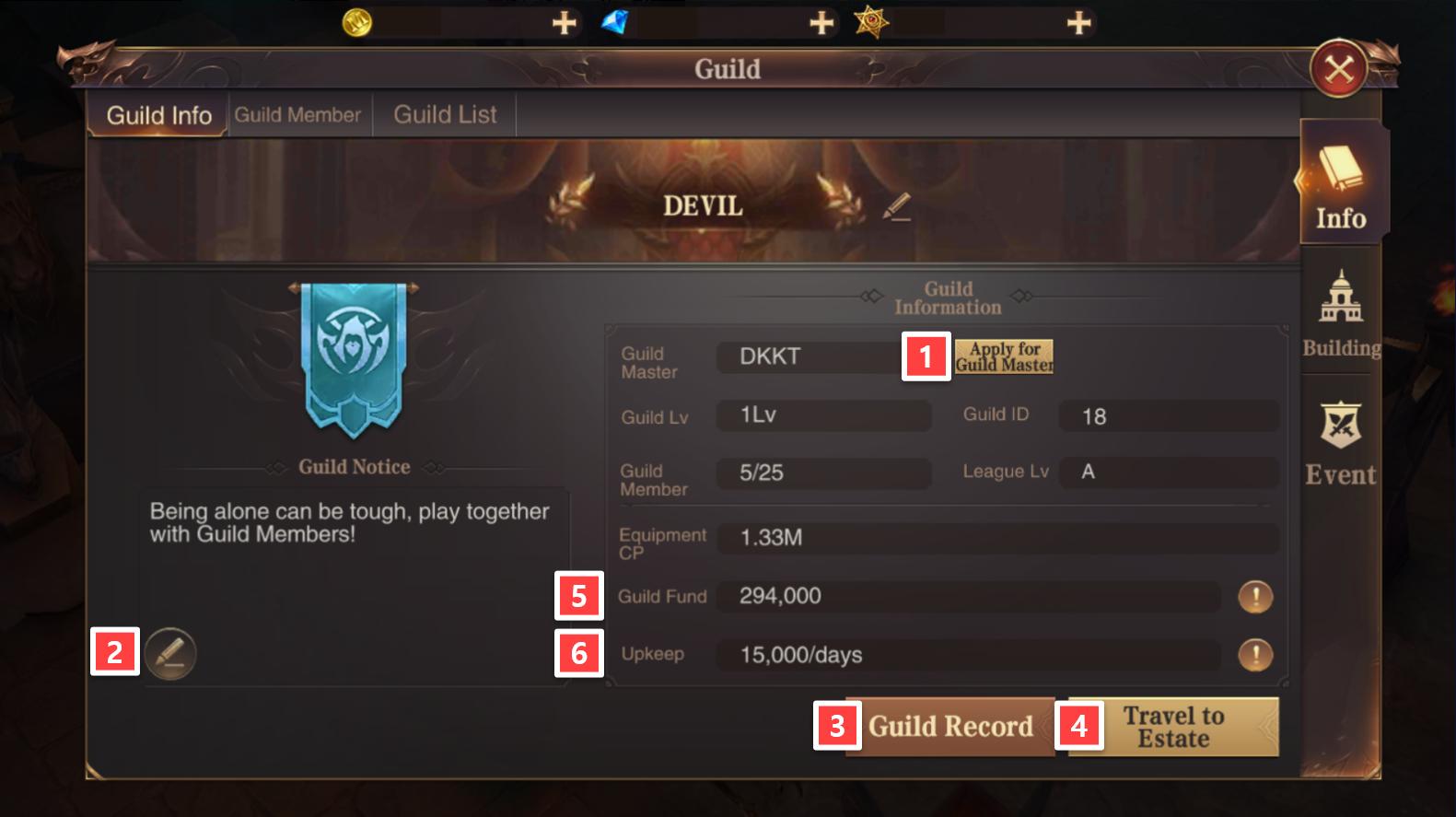 Guild Info