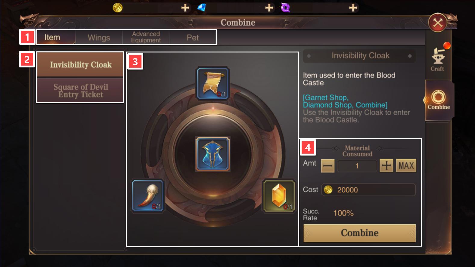 Combine Items