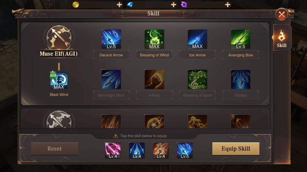 Select Skill Type