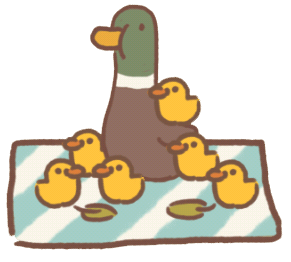Picnicking Duck