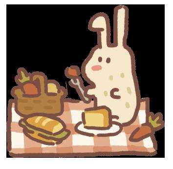 Picnicking Rabbit