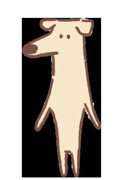 Slim White Dog
