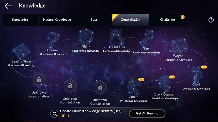 Constellation Knowledge and Title