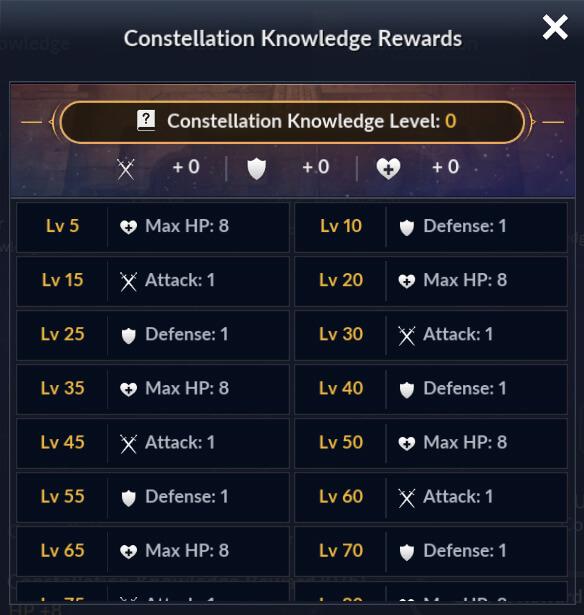 Constellation Knowledge Rewards