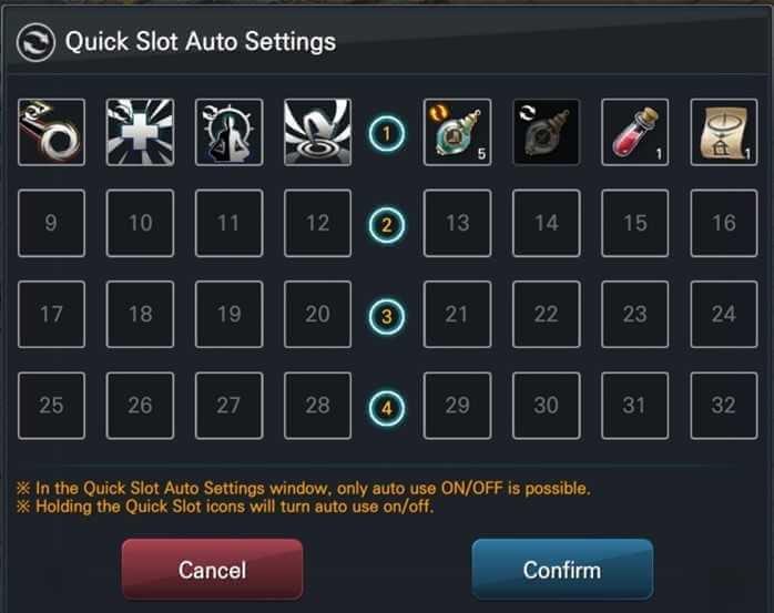 Quick Slot